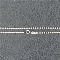 18 inch finished Sterling Silver Chain BALLDC20