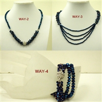 FN202 4 Way Crystal Magnetic Necklaces