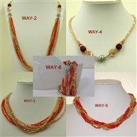 FN205 6 Way Crystal Magnetic Necklaces