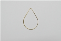 Gold Filled Links - Teardrop 25mm x 35mm