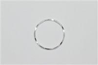 Sterling Silver Links - Hammered Rings 21mm