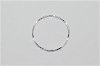 Sterling Silver Links - Hammered Rings 25mm