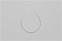 Sterling Silver Links - Textured Teardrop 25mm x 35mm