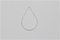 Sterling Silver Links - Textured Teardrop 20mm x 30mm