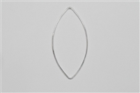 Sterling Silver Links - Marquise Shape 45mm x 20mm