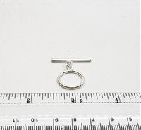 STG-19 17mm Ring. Sterling Silver Toggle.