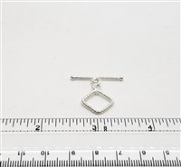 STG-07 13x13mm Ring. Sterling Silver