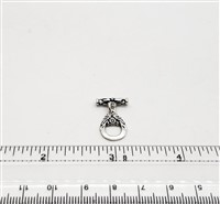 STG-25 12x14mm Ring. Bali Sterling Silver