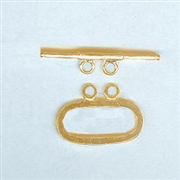 STG-17 19x11mm Ring. Gold Plated over Sterling Silver