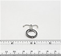 STG-15 17mm Ring. Bali Sterling Silver