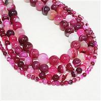Agate Fuschia 6mm