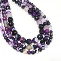 Agate Purple 6mm