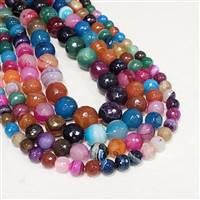Faceted Mixed Agate 12mm