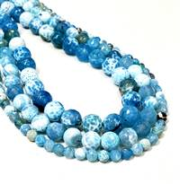 Agate Fire Blue 6mm