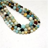 Faceted Amazonite 8mm