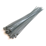 "14"" Cable ties - silver 100pcs"