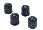 Black plastic dust caps, 200pcs
