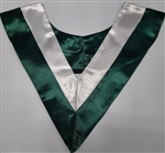 Double Color V-Stoles - Forest/White