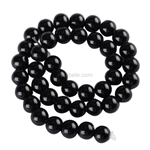 Natural Black Agate Gemstone Beads