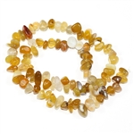 Smooth Chip Yellow Agate Gemstone Beads