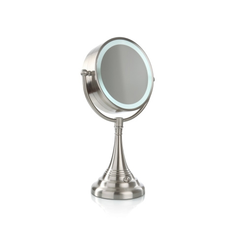 Vanity Mirror With Lights Cordless : Storefront: Cordless LED Lighted Pivoting Vanity Mirror