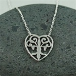 Silver Floral Heart Necklace