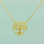 Gold Floral Heart Necklace