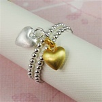 Two Tone Heart Stackable Ring