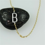 Silver Initial B Necklace