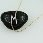 Silver Initial M Necklace