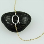 Silver Initial Q Necklace