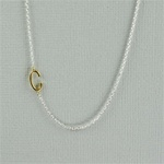 Gold Initial C Necklace