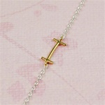 Gold Initial I Necklace
