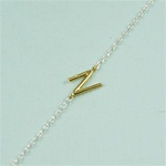 Gold Initial N Necklace