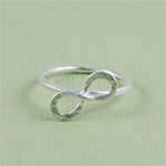 Hammered Silver Infinity Ring