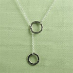 Silver Ring and Ring Charm Necklace