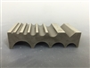 "Basic Metal Forming Block 10 ""U"" Grooves + 1 ""V"" 100x50mm"