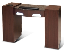 Ultimate nail table w uv light fan exhaust for Nail desk light