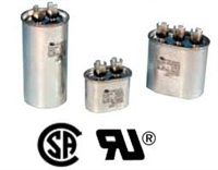 CR7.5X370: Packard 370 Volt Oval Run Capacitor 7.5 MFD FOR CENTRAL AIR CONDITIONER
