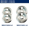 "Edgewater Parts Drip Pan Kit 4 Pack (Two- 6"" WB31T10010 And Two- 8""  WB31T10011) Compatible With GE Oven"