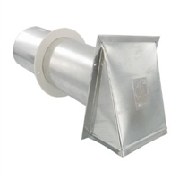PVB4EAL Dryer Venting Aluminum Exhaust Hood