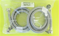 (SET OF 2) 90 Degree ELBOW Stainless Steel Fill Hose 5 FOOT FOR WASHERS