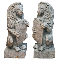 Pair of Terra Cotta Lions