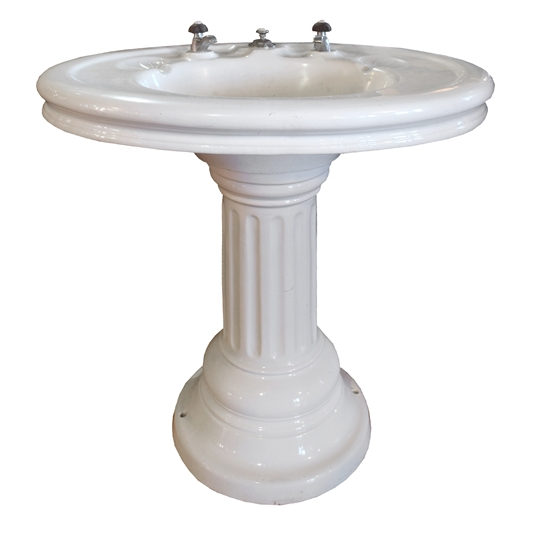 French Porcelain Pedestal Sink