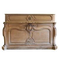 French Carved Oak Shop Counter