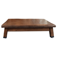 Wood and Leather Vaulting Bench/Table