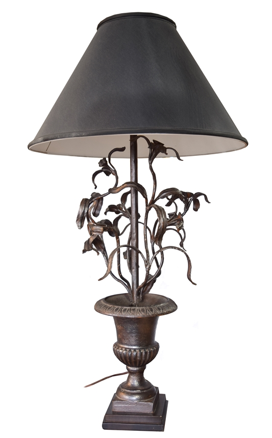 Argentine Cast Iron Table Lamp by Jose Thenee