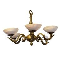 Early 20th Century Argentine Bronze Chandelier