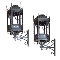 Pair of Argentine Wrought Iron Sconce