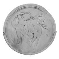 Early 20th Century American Limestone Medallion with Muses